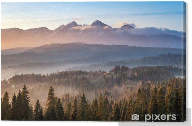 Canvas Tatry bielskie - Landschappen