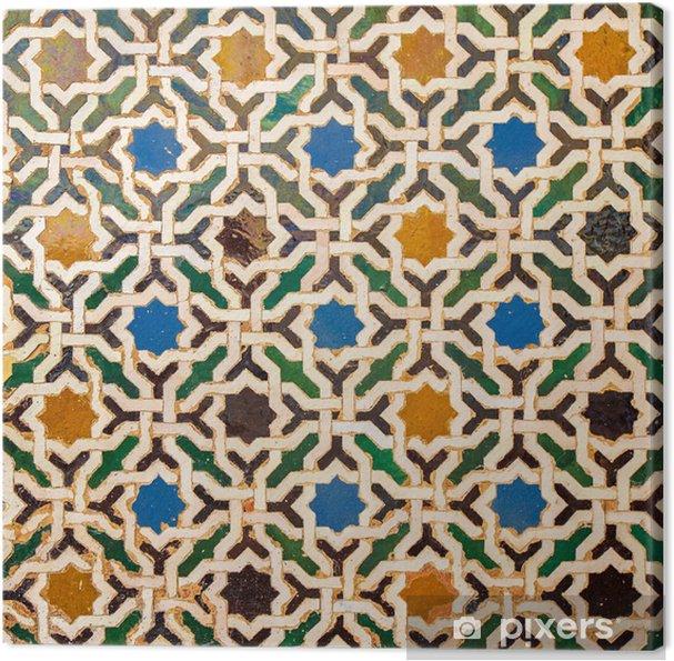 Canvas Tegel decoratie, Alhambra, Spanje - Mozaïek