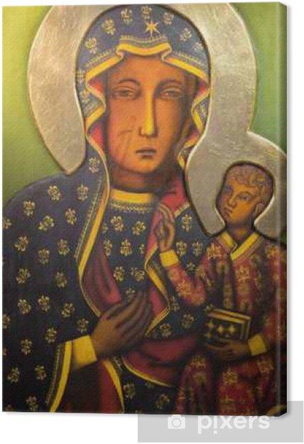 Canvas Tel Aviv - Icoon van de zwarte Madonna uit st. Peters kerk - Gebouwen en Architectuur