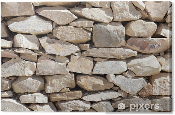Canvas Textuur van het leggen van stenen. - Texturen