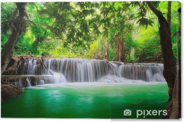 Canvas Thailand waterval in Kanjanaburi - Thema's