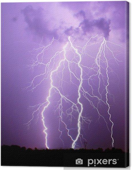 Canvas Thunderstorm - Natuurrampen