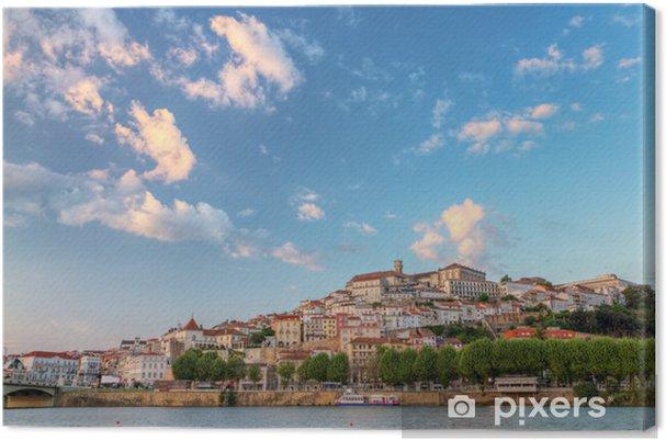Canvas Toeristische magneet Coimbra, Portugal - Europa