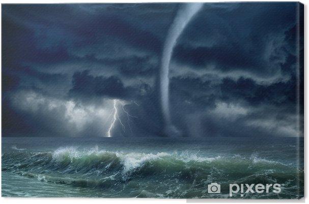 Canvas Tornado, bliksem, zee - Natuurrampen