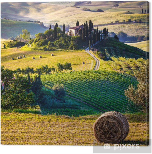 Canvas Toscane, Italiaans landschap - Thema's