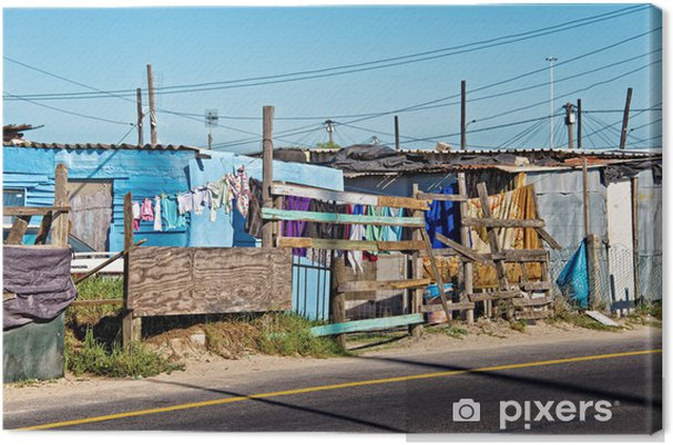 Canvas Township bij Kaapstad, Zuid-Afrika - Armoede