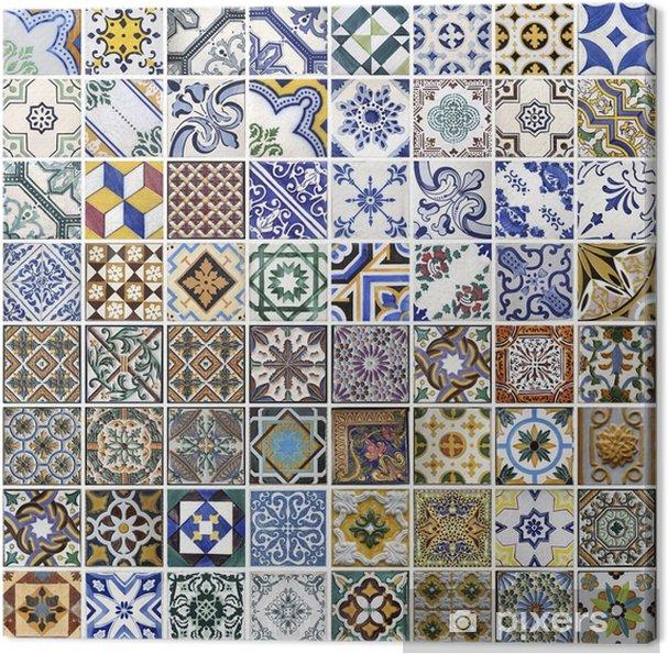 Canvas Traditionele tegels uit Porto, Portugal - Thema's