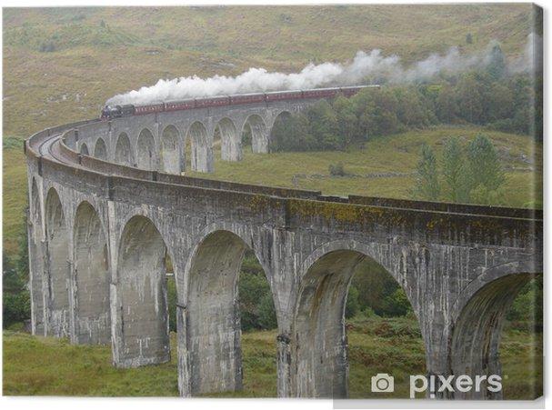 Canvas Trainen op Glenfinnan viaduct. Schotland. - Thema's
