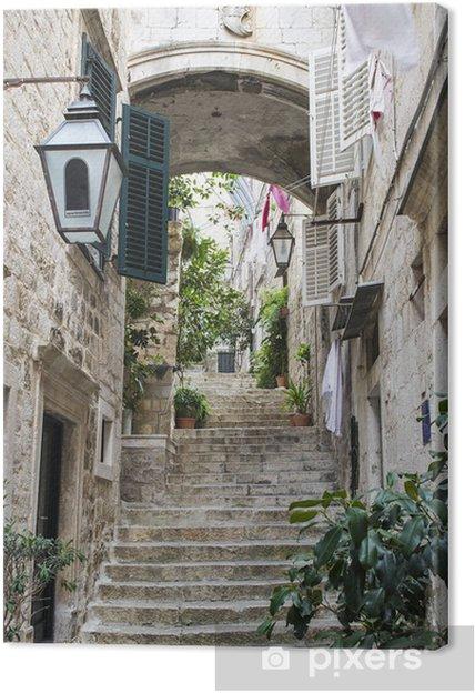 Canvas Trappen in de Oude Stad van Dubrovnik - Thema's