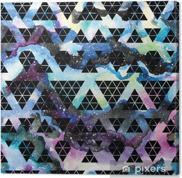 Canvas Tribal melkweg naadloos patroon. - Grafische Bronnen
