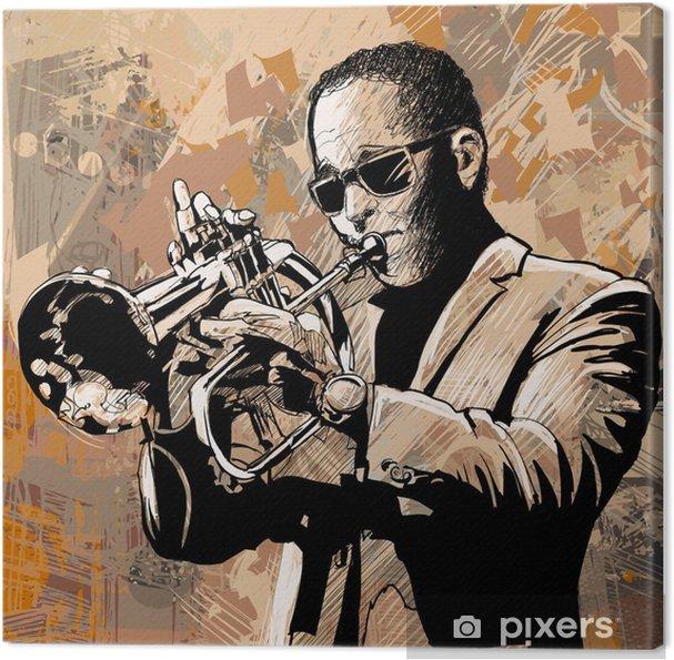 Canvas Trompettist - jazz