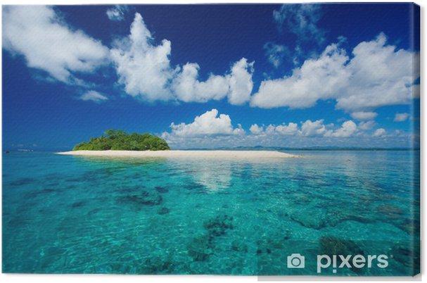 Canvas Tropisch eiland vakantie paradijs - Palmbomen