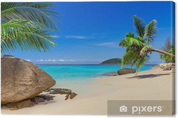 Canvas Tropisch strand landschap in Thailand - Palmbomen