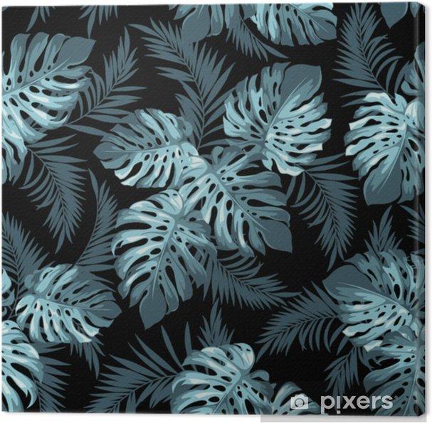Canvas Tropische bladeren - Bloemen en Planten