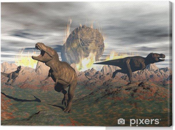 Canvas Tyrannosaurus dinosaurus extinctie - 3D render - Thema's