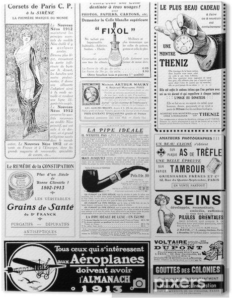 Canvas Uitstekende reclame circa 1913 -
