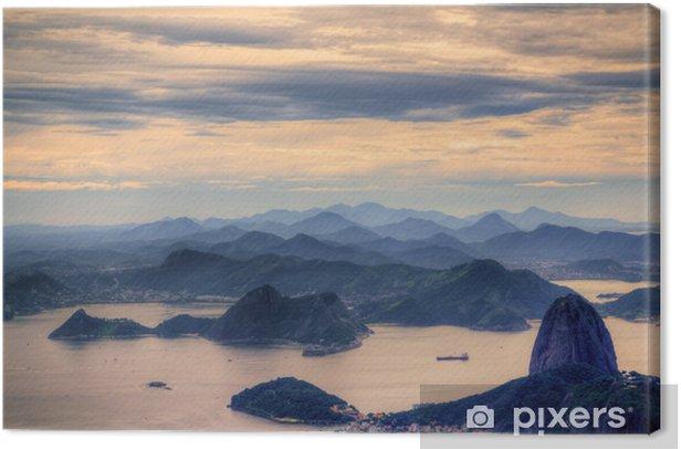 Canvas Uitzicht op de Suikerbroodberg in Rio de Janeiro - Brazilië