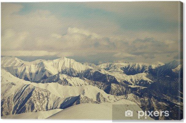 Canvas Uitzicht vanaf de skipistes - Landschappen