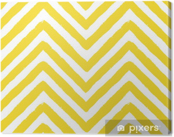 Canvas Vector chevron geel naadloos patroon - Landschappen