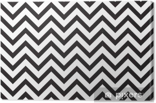 Canvas Vector moderne naadloze geometrie patroon chevron, zwart en wit abstracte geometrische achtergrond, subtiele kussen print, monochroom retro textuur, hipster modevormgeving - Grafische Bronnen