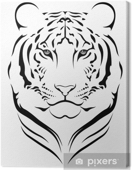 Canvas Vector Tijger Tattoo