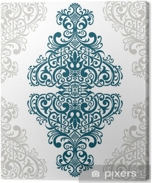 Canvas Vector vintage sierlijke grens frame kaartdeksel - Thema's
