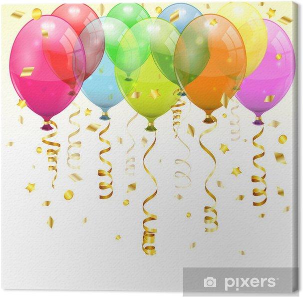 canvas verjaardag ballonnen • pixers® - we leven om te veranderen