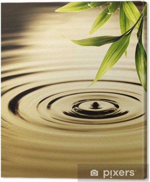 Canvas Verse bamboe bladeren over water - Stijlen