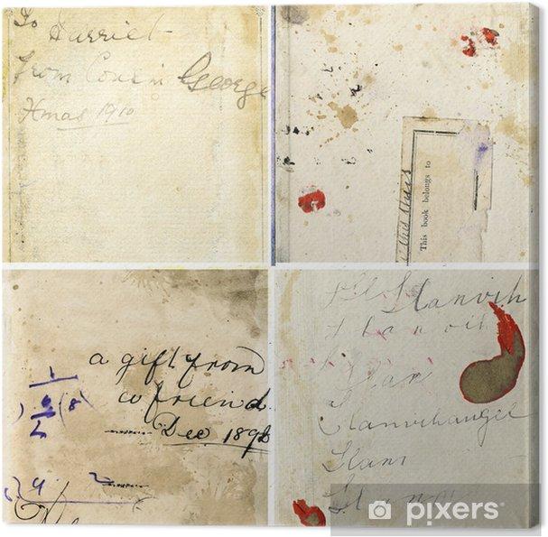 aac97555b1d Canvas Verzameling van grunge papier texturen met vintage handschrift
