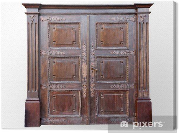 Canvas vintage entree deur versierd met smeedijzeren u2022 pixers® we