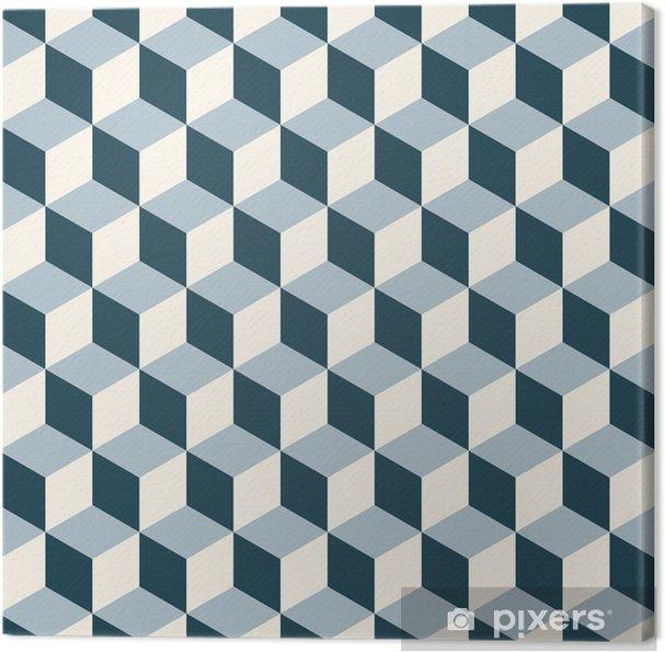 Canvas Vintage kubussen 3d patroon achtergrond. Retro vector patroon. - 3D