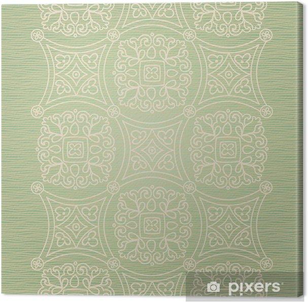 Canvas Vintage naadloze grens met kanten versiering. - Tekens en Symbolen
