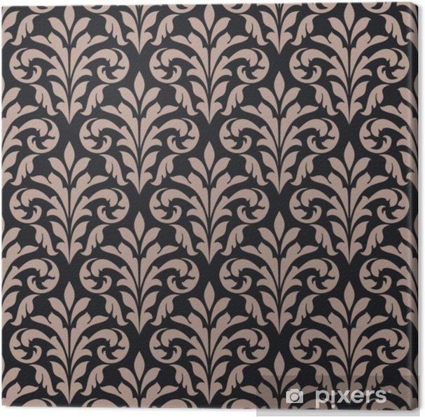 Canvas Vintage naadloze patroon - Bloemen en Planten