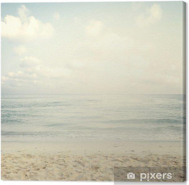 Canvas Vintage tropisch strand in de zomer - Landschappen