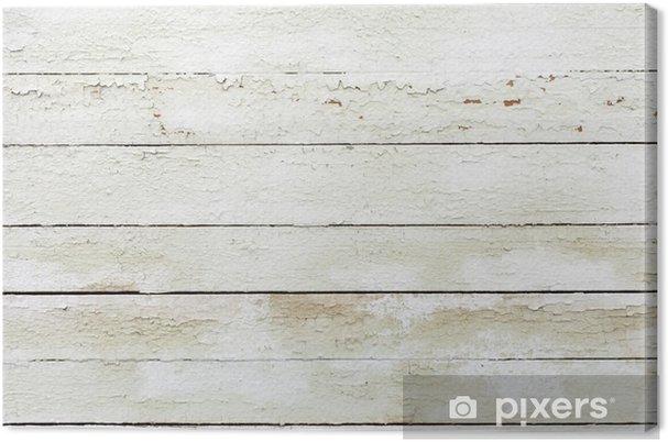 Canvas Vintage witte achtergrond van natuurlijk hout oude muur - Texturen