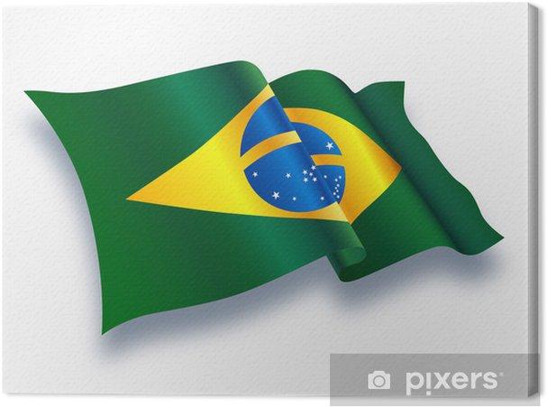 canvas vlag (brazilië) • pixers® - we leven om te veranderen