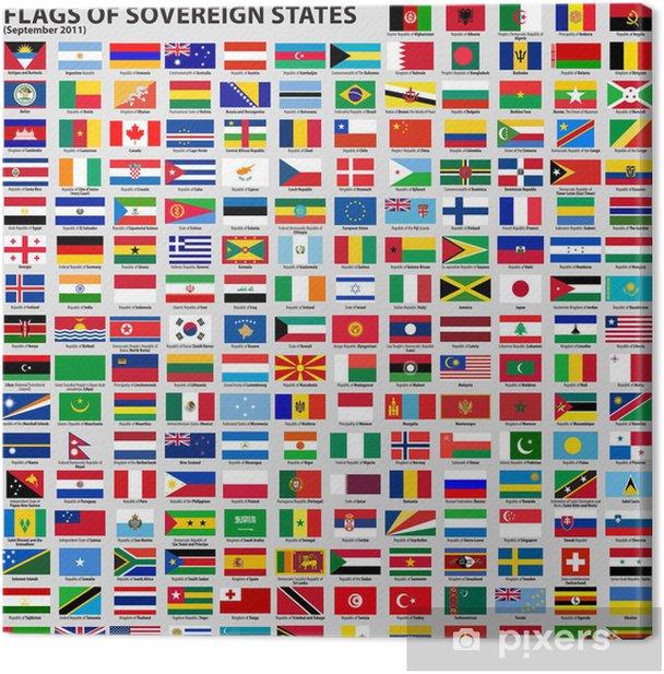 Canvas Vlaggen van soevereine staten - Tekens en Symbolen