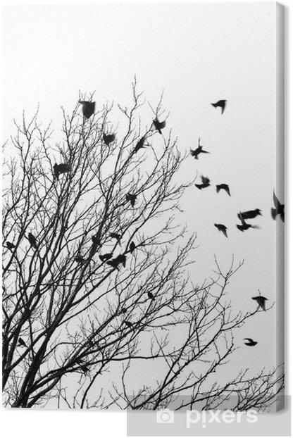 Canvas Vliegende vogels - Stijlen