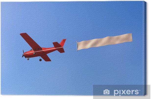 Canvas Vliegtuig met een bericht in de hemel - Lucht