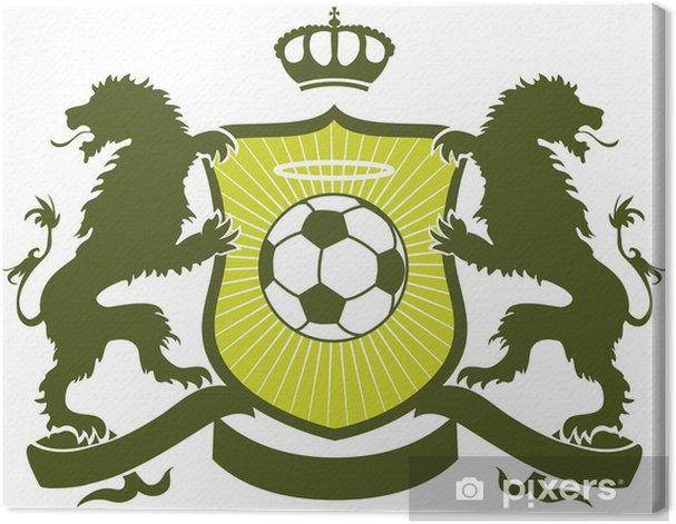 Canvas Voetbal blazoen - Team sport