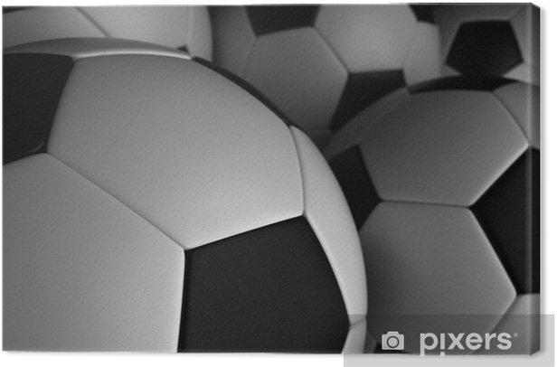 Canvas Voetbalelftal - Achtergrond