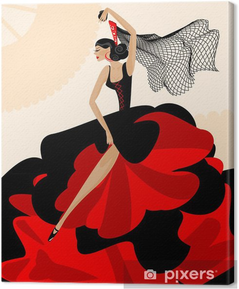 Canvas Vrouw flamenco - Thema's