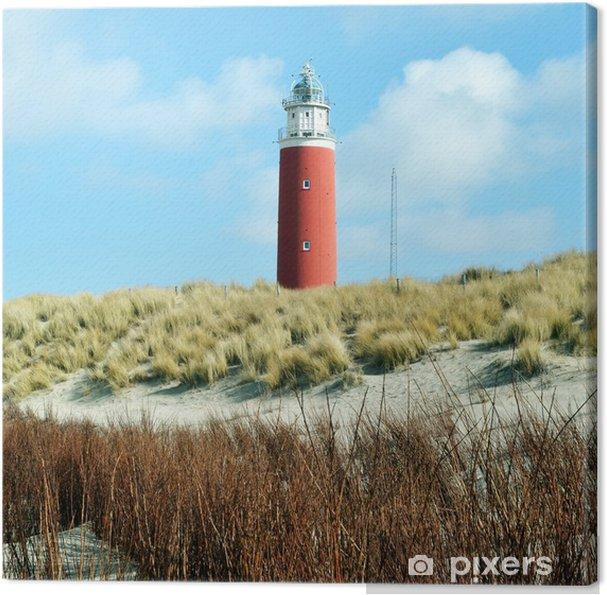 Canvas Vuurtoren op het eiland Texel in Nederland. - Monumenten