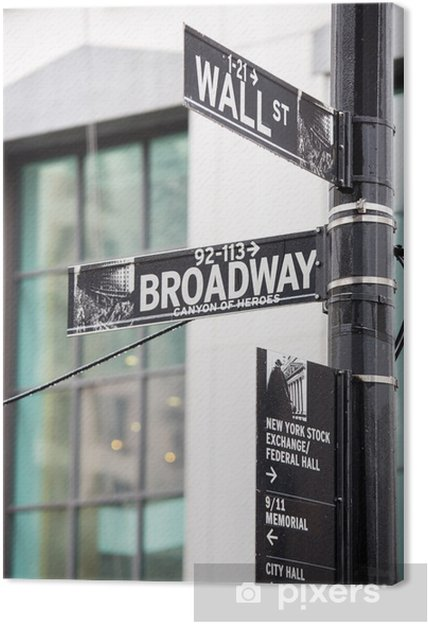 Canvas Wall street - Amerikaanse steden