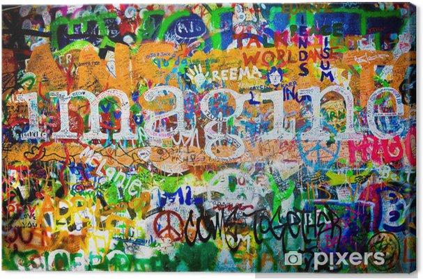 Canvas Wand van John Lennon (Praag) - Imagine (Toma 1) -