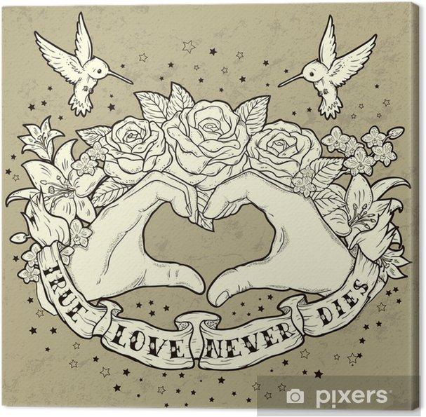Canvas Ware Liefde - Gelukkig