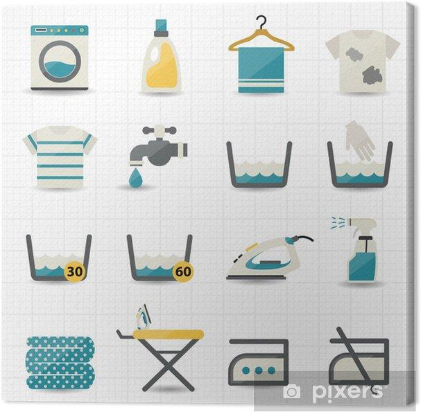 Canvas Was-en Wassen Icons - Huis en Tuin