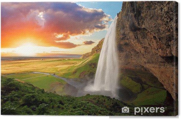 Canvas Waterval, IJsland - Seljalandsfoss - Thema's