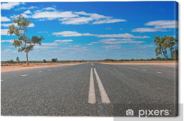 Canvas Weg in de Australische outback - Oceanië