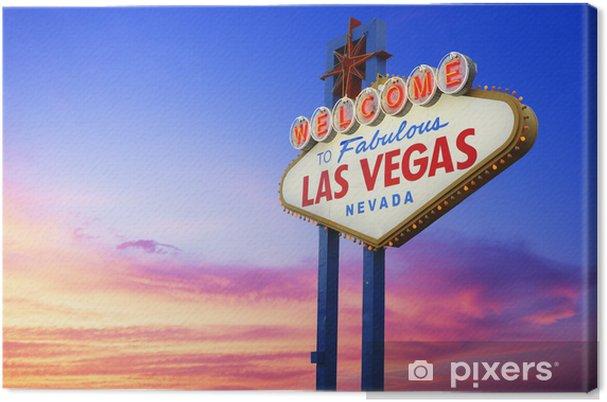 Canvas Welcome to Fabulous Las Vegas teken - Las Vegas